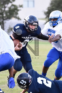 The Warriors def. Indians 36-32 in 6on6 FB at BCS on 16Sep16. Gallery: http://smu.gs/2cGMYnC