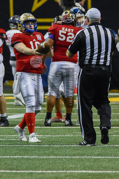 """The 2017 San Antonio Sports All-Star Game presented by H-E-B ended with the East defeating the West 43-29 in the Alamodome on Saturday, Jan. 7. Game attendance numbered 15,100 fans who made the game a great success! Gallery: <a href=""""http://smu.gs/2jcEYgj"""">http://smu.gs/2jcEYgj</a>"""