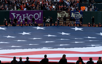 • Big Flag  Giants vs Rangers - World Series Game #1 October 27, 2010 - AT&T Park, San Francisco, CA