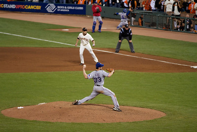 • Cliff Lee: no longer unhittable!  Giants vs Rangers - World Series Game #1 October 27, 2010 - AT&T Park, San Francisco, CA