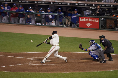 • U-RIBE = 3 run blast  Giants vs Rangers - World Series Game #1 October 27, 2010 - AT&T Park, San Francisco, CA