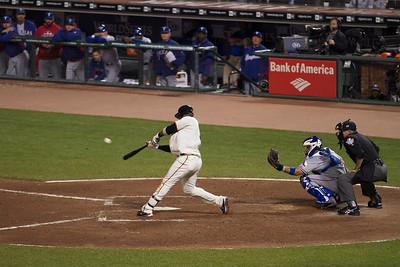 • U-RIBE = 3 run blast  Giants vs Rangers - World Series Game #1 October 27, 2010 - AT&T Park, San Francisco, CA