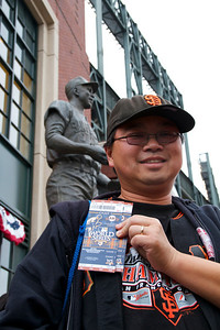 • Oh yeah! World Series Tickets!  Giants vs Rangers - World Series Game #1 October 27, 2010 - AT&T Park, San Francisco, CA