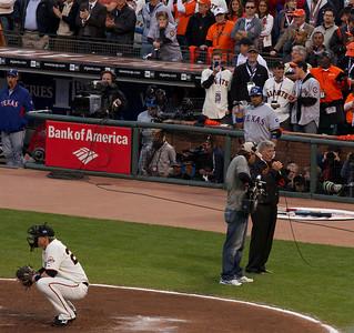 • Tony Bennet  Giants vs Rangers - World Series Game #1 October 27, 2010 - AT&T Park, San Francisco, CA