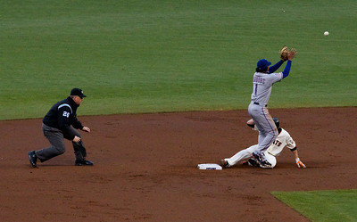 • Sanchez Double #2  Giants vs Rangers - World Series Game #1 October 27, 2010 - AT&T Park, San Francisco, CA