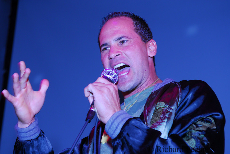 Omar Vizquel singing lead vocals at Strikeouts for Troops Jam at Ruby Skye in San Francisco, 5.24.07.