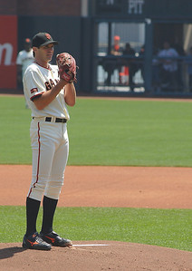 Barry Zito during the early part of a 1pm game at AT&T.