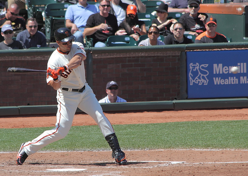Carlos Beltran, a disappointment for the Giants in 2011, swings at a fastball.