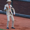 The kid can play a mean trumpet and dance - he entertained the crowd between a few innings.