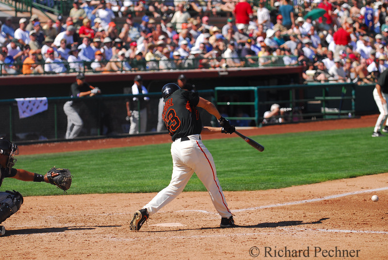 Omar Vizquel connects for a Spring Training triple.