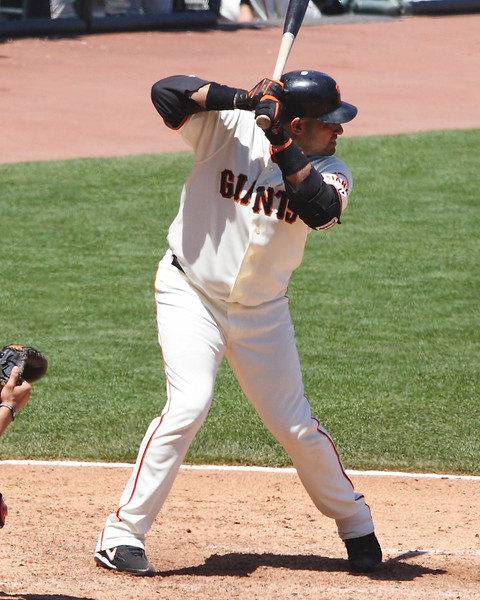 Bengie Molina was a leading run producer while he was a Giant until his last year with the team.  Taken July 4, 2009.