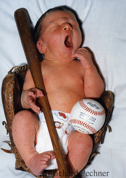 Toby Pechner's birth announcement photo, 6.24.1993, 3 days old.