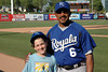 Toby Pechner & Tony Pena after Toby's first game as Batboy for the Royals vs. Giants, Spring Training, Scotsdale, AZ. 3/13/2005