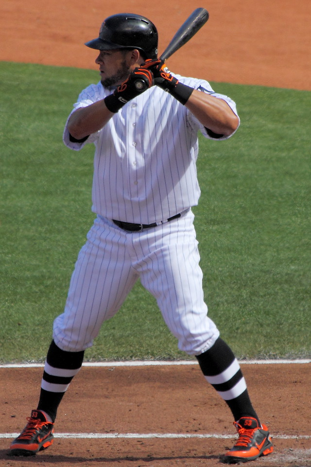 Melky Cabrera.  Who'd a thunk it?  Leading the major leagues in batting average on June 15th.