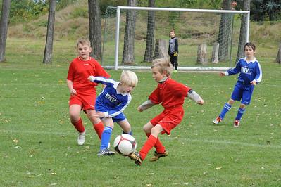 Spiel der E-Junioren des SG Einheit Melchendorf gegen  Borntaler SV vom 04.10.2009
