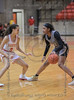 #3 SGP guard Kiara Jackson defends against #11 Plano East guard Kayla Cooper during the girls 6A regional playoffs.