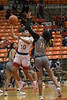 #10 SGP guard Victoria Dixon goes on for the lay up against #11 Plano East guard Kayla Cooper.