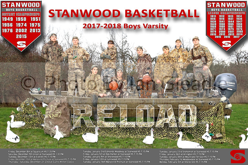 Stanwood Boys Basketball 2017 Poster