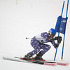Record-Eagle/Jan-Michael Stump<br /> Traverse City Central's Kalvis Hornburg runs the giant slalom in the  state finals Monday at Boyne Highlands.