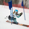 Record-Eagle/Jan-Michael Stump<br /> Traverse City West's Elle Rivard runs the giant slalom in the state finals Monday at Boyne Highlands.