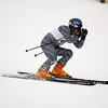 Record-Eagle/Jan-Michael Stump<br /> Traverse City West's Finley Clark runs the giant slalom in the  state finals Monday at Boyne Highlands.