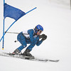 Record-Eagle/Jan-Michael Stump<br /> Traverse City West's Andrew Northway runs the giant slalom in the  state finals Monday at Boyne Highlands.
