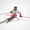 Record-Eagle/Jan-Michael Stump<br /> Marquett'e Kelsie Coccia runs the slalom in the  state finals Monday at Boyne Highlands.