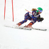 Record-Eagle/Jan-Michael Stump<br /> Traverse City Wests's Monica Hessler runs the giant slalom in the state finals Monday at Boyne Highlands.