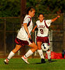 Clarke #18 - not on roster and #9 Michelle Hartman.  September 18th, 2007 Clarke vs North Shore 1-2. Photo by Kathy Leistner