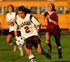Clarke #2 Karin Simonian ready to score.  September 18th, 2007 Clarke vs North Shore 1-2. Photo by Kathy Leistner