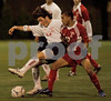 Southside #20 Ryan Portenoy and #17 Jon Velasquez VS South. November 3, 2006 Class A Semi Final. Photo by Kathy Leistner.