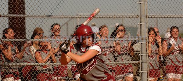 Clarke#22 Danielle Iovino at bat.