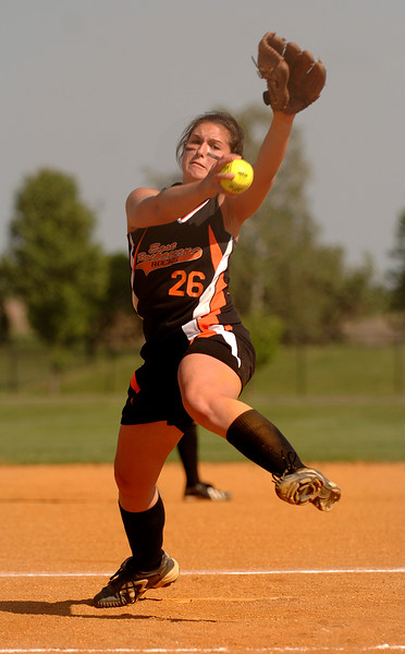 #26 Heather Loughran, pitcher. Photo by Kathy Leistner