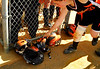 Emily D'Archanelis, Sophmore selects a bat on her way up to home plate. Photo by May 24th, 2007. ERHS vs FA.