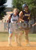 #31 safe at 2nd watches play at home.  OHS vs W. Babylon HS, Playoffs, June 11th, 2008. Photo by Kathy Leistner