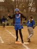 #9 Rachel Wakford heads to first. Malverne HS vs Roosevelt HS, April 14th, 2007.6-30. MHS vs Roosevelt,  Photo by Kathy Leistner.