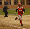 VSSHS SS #10 Geanna Matteo, Catcher, heads to first base. VSSHS vs Friends Academy, April 17th, 2007. Photo by Kathy Leistner
