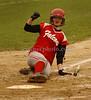 VSSHS #10 catcher Geanna Matteo slides into home. VSSHS vs Friends, April 17th, 2007. Photo by Kathy Leistner