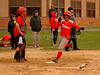VSSHS #17 Bridget Charles, 2 baseman, scores a run. VSSHS vs Friends Academy, April 17th, 2007. Photo by Kathy Leistner