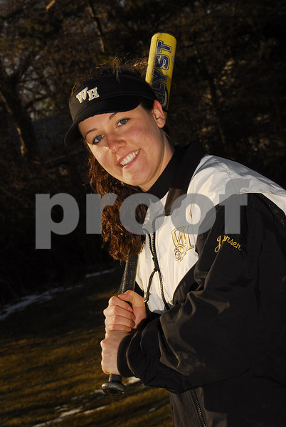 Katie Johansen. W. Hempstead Softball 2007. Photo by Kathy Leistner
