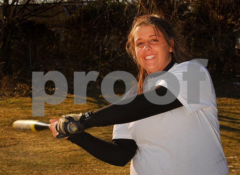 Ashley Bonheur. W. Hempstead Softball 2007. Photo by Kathy Leistner