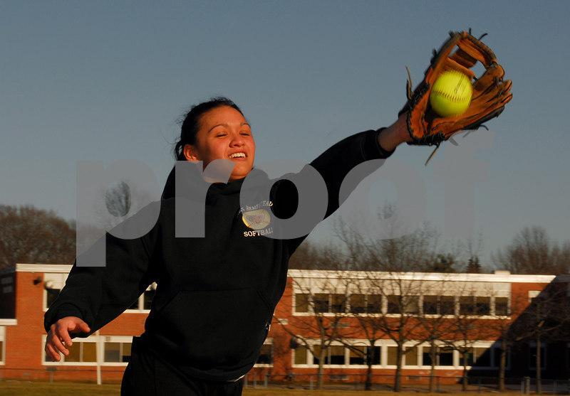 Lauren Leone. W. Hempstead Softball 2007. Photo by Kathy Leistner.