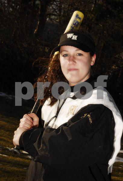 Katie Johansen. W. Hempstead Softball 2007. Photo by Kathy Leistner