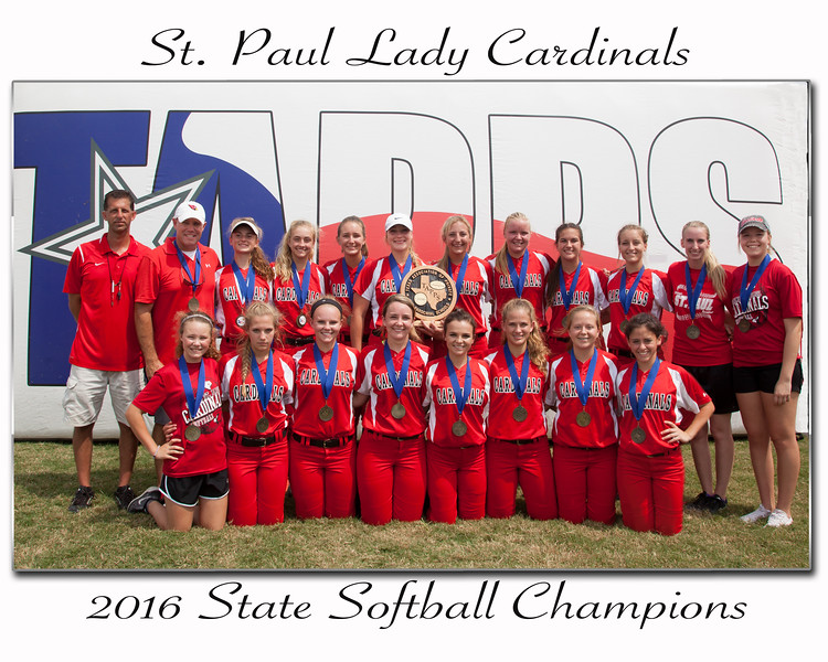 SPH State Softball Team 2016