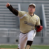 Haverhill pitcher Evan Penney delivers to a Lawrence batter.