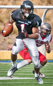 Santa Ana Dons defeat Palomar Comets 52-45 on September 24, 2011 at Santa Ana Stadium. Photo by Lynne Skilken.