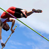 "Centaurus High School junior Samuel Estrella tries to clear the 13-feet six-inch mark in the boys class 4A pole vault during the 2011 Colorado State Track and Field Championships on Saturday, May 21, at Jeffco Stadium in Lakewood. For more photos go to  <a href=""http://www.dailycamera.com"">http://www.dailycamera.com</a><br /> Jeremy Papasso/ Camera"