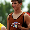 "Mead High School's Alex Mead stands in the no. 1 spot of the podium after winning the boys class 3A 100-meter dash during the 2011 Colorado State Track and Field Championships on Saturday, May 21, at Jeffco Stadium in Lakewood. For more photos go to  <a href=""http://www.dailycamera.com"">http://www.dailycamera.com</a><br /> Jeremy Papasso/ Camera"