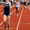 """Nederland High School junior Kelley Robinson crosses the finish line in 1st place in the girls class 2A 1600-meter run during the 2011 Colorado State Track and Field Championships on Saturday, May 21, at Jeffco Stadium in Lakewood. For more photos go to  <a href=""""http://www.dailycamera.com"""">http://www.dailycamera.com</a><br /> Jeremy Papasso/ Camera"""