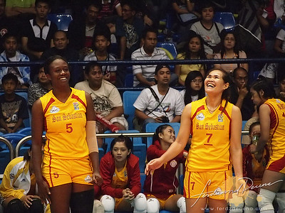 SVL Day 1 San Sebastian vs Philippine Airforce. Jang Baulee and Lauren Ford